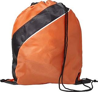 Stahovací batoh s černým pruhem, oranžový