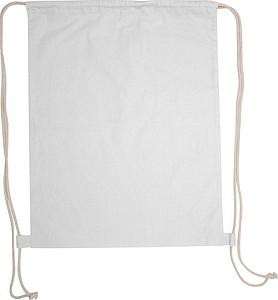 Bavlněný stahovací batůžek, bílý