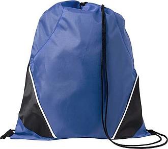 Stahovací batoh s černou šňůrkou, modrý