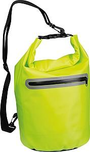 GRONDO Neonově žlutý batoh na jedno rameno s reflexním pruhem
