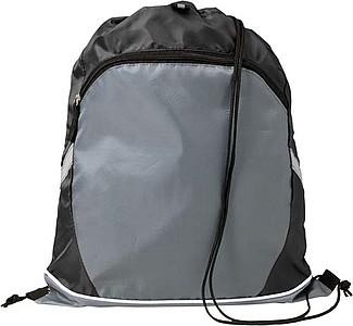 Stahovací batoh se zipem, černý