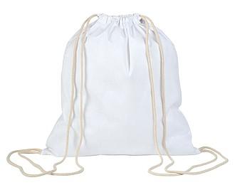 Stahovací batoh, bílý