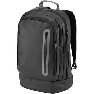 Voděodolný batoh s přední kapsou na zip, černá