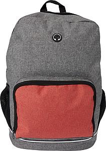 Batoh s otvorem na sluchátka, šedo červený