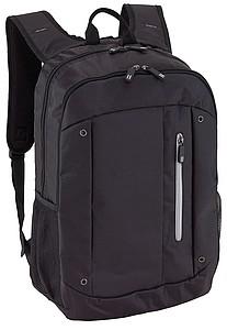 Černý batoh se šedými detaily