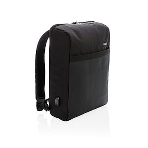 Batoh na notebook, polyester 600D, 20l, šedý