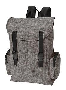 Šedý batoh s bočními kapsami
