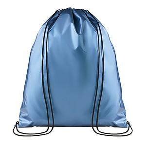 PERUNO Laminovaný stahovací batoh na šňůrky, modrá
