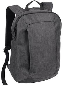Tenký batoh na záda s přihrádkou na notebook, antracitový
