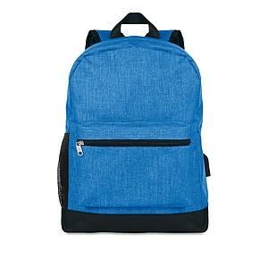 Bezpečnostní batoh se skrytým zavíráním a venkovní kapsou, královská modrá
