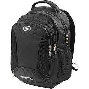 Exkluzivní batoh s několikami kapsami na zip, černá