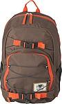 Hnědý batoh s oranžovými detaily