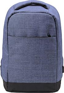KEFUR Cestovní batoh se vstupem na USB, modrá