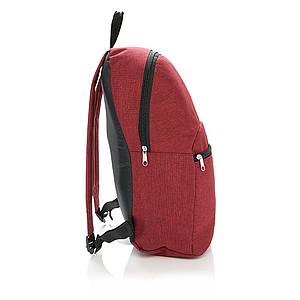 MIXAR Jednoduchý batoh s přední kapsou, červená