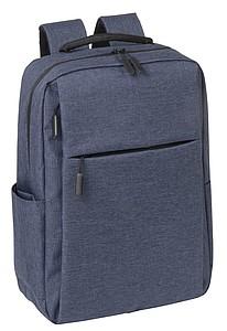 KORINT Pevný batoh na notebook nebo tablet, riflová