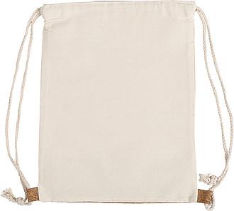 Bavlněný batoh (280gr) s částí z korkové tkaniny