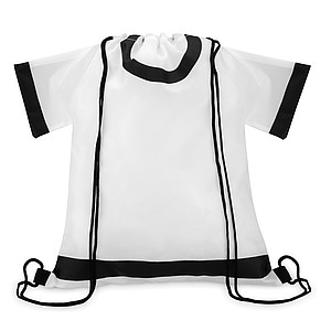 Stahovací batoh ve tvaru trička, bílý