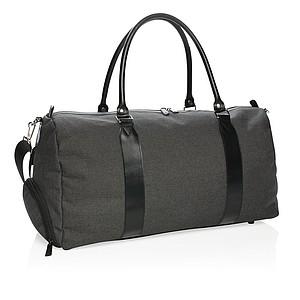 Víkendová taška sUSB výstupem, černá