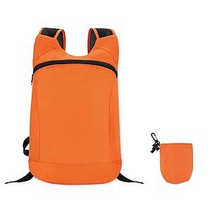 Skládací batoh z polyesteru, oranžový