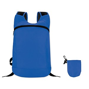 Skládací batoh z polyesteru, královská modrá