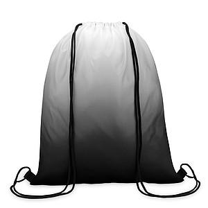 MAROMBY Stahovací batoh s efektem barevného přechodu a barevnými šňůrkami, černá