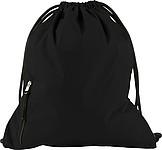 PANGOR Stahovací batoh s kapsičkou na zip, černá