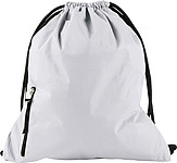 PANGOR Stahovací batoh s kapsičkou na zip, bílá