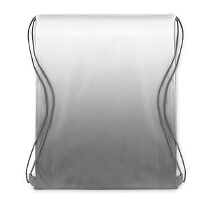 MAROMBY Stahovací batoh s efektem barevného přechodu a barevnými šňůrkami, šedá