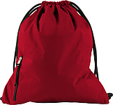 PANGOR Stahovací batoh s kapsičkou na zip, červená