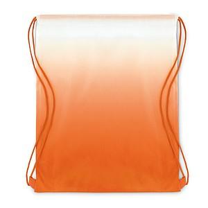 MAROMBY Stahovací batoh s efektem barevného přechodu a barevnými šňůrkami, oranžová
