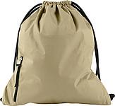 PANGOR Stahovací batoh s kapsičkou na zip, béžová