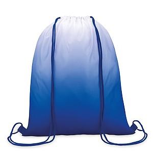 MAROMBY Stahovací batoh s efektem barevného přechodu a barevnými šňůrkami, král. modrá