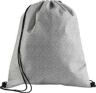 Stahovací batoh z netkané textilie, černý