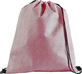 Stahovací batoh z netkané textilie, červený