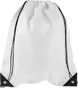 Stahovací batoh z netkané textilie, bílý