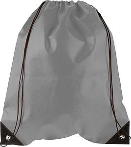 Stahovací batoh z netkané textilie, šedý