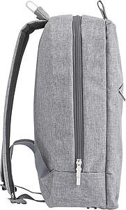 Plátěný batoh s přední kapsou