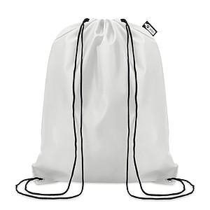 Stahovací batoh vyrobený z recyklovaných PET lahví, bílý