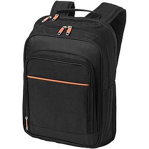 """Černý batoh na laptop o velikosti 14"""", černá/královská modrá"""