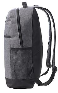 Polyesterový dvoubarevný batoh se světlem. Černá/šedá