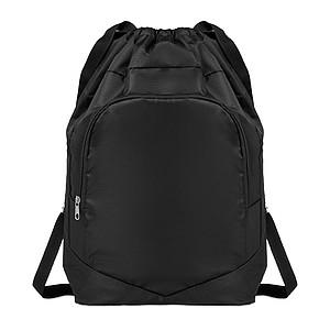 Sportovní stahovací batoh, černý
