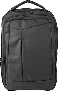 Polyesterový batoh se 2 předními kapsami, černý