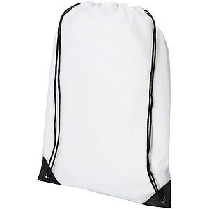Sportovní batůžek z netkané textilie a polyesteru, bílá