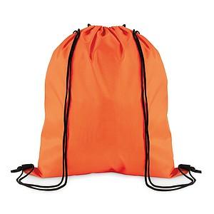 Stahovací batoh z polyesteru, oranžový