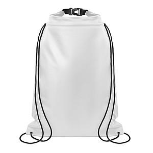 MURIK Nepromokavý stahovací batoh, bílá