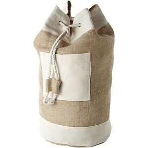 Jutový námořnický batoh, béžová
