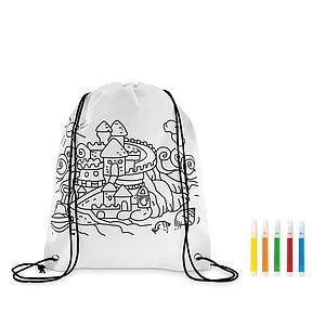 Stahovací batoh s obrázkem k vybarvení