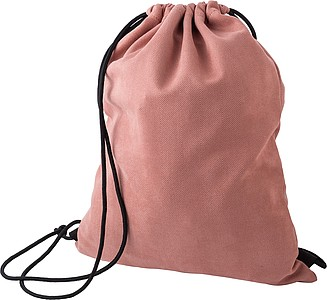 Stahovací batoh z polyesteru, červený