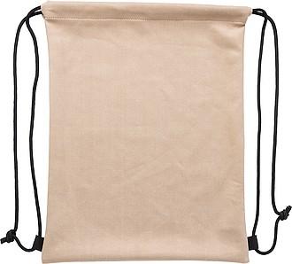Stahovací batoh z polyesteru, béžová