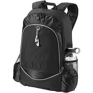 """Batoh na laptop 15"""" s bočními kapsami na láhev, černá"""
